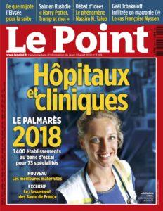 Le Point, Palmarès 2018, Classement, Chirurgie, Pied, Cheville, Hallux Valgus, Prothèse de cheville